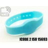 Braccialetti RFID silicone clip ICODE 2 ISO 15693