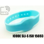 Braccialetti RFID silicone clip ICODE SLI-S ISO 15693