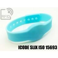 Braccialetti RFID silicone clip ICODE SLIX ISO 15693