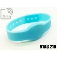 Braccialetti RFID silicone clip NFC NTAG216