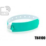 Braccialetti RFID vinile monouso TK4100