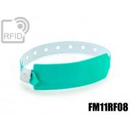 Braccialetti RFID vinile monouso FM11RF08