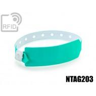 Braccialetti RFID vinile monouso NFC NTAG203