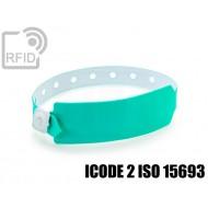 Braccialetti RFID vinile monouso ICODE 2 ISO 15693
