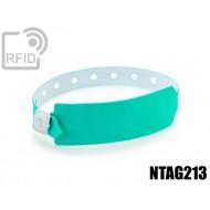 Braccialetti RFID vinile monouso NFC NTAG213