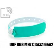 Braccialetti RFID vinile monouso UHF 868 MHz Class1 Gen2