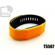 Braccialetti RFID silicone bicolore T5567