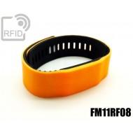 Braccialetti RFID silicone bicolore FM11RF08