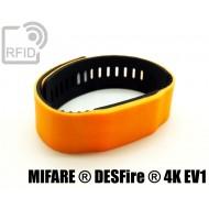 Braccialetti RFID silicone bicolore NFC MIFARE ® DESFire ® 4