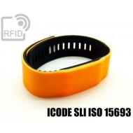 Braccialetti RFID silicone bicolore ICODE SLI ISO 15693
