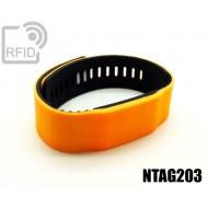 Braccialetti RFID silicone bicolore NFC NTAG203