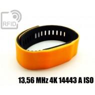 Braccialetti RFID silicone bicolore 13,56 MHz 4K 14443 A ISO