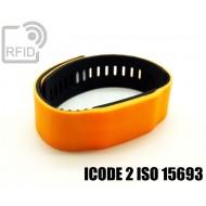 Braccialetti RFID silicone bicolore ICODE 2 ISO 15693