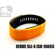 Braccialetti RFID silicone bicolore ICODE SLI-S ISO 15693