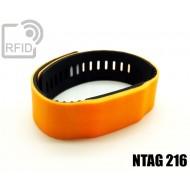 Braccialetti RFID silicone bicolore NFC NTAG216