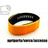Braccialetti RFID silicone bicolore apriporta/varco/accesso