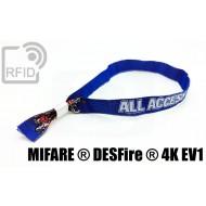 Braccialetti RFID in tessuto NFC MIFARE ® DESFire ® 4K EV1