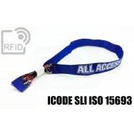Braccialetti RFID in tessuto ICODE SLI ISO 15693