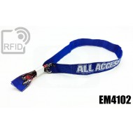 Braccialetti RFID in tessuto EM4102