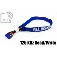 Braccialetti RFID in tessuto Read/Write 125 Khz
