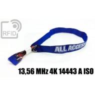 Braccialetti RFID in tessuto 13,56 MHz 4K 14443 A ISO