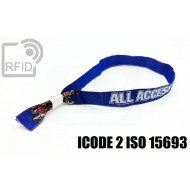 Braccialetti RFID in tessuto ICODE 2 ISO 15693