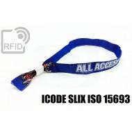 Braccialetti RFID in tessuto ICODE SLIX ISO 15693