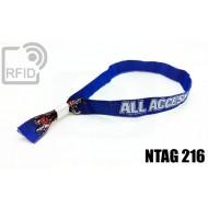 Braccialetti RFID in tessuto NFC NTAG216