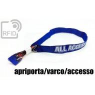 Braccialetti RFID in tessuto apriporta/varco/accesso