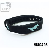 Braccialetti RFID silicone fitness NFC NTAG203