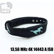 Braccialetti RFID silicone fitness 13,56 MHz 4K 14443 A ISO