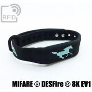 Braccialetti RFID silicone fitness NFC MIFARE ® DESFire ® 8K