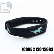 Braccialetti RFID silicone fitness ICODE 2 ISO 15693