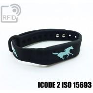 Braccialetti RFID silicone fitness ICODE 2 ISO 15693
