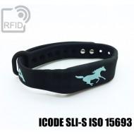 Braccialetti RFID silicone fitness ICODE SLI-S ISO 15693