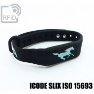 Braccialetti RFID silicone fitness ICODE SLIX ISO 15693