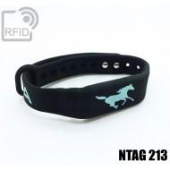 Braccialetti RFID silicone fitness NFC NTAG213