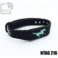Braccialetti RFID silicone fitness NFC NTAG216