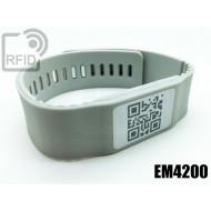 Braccialetti RFID silicone banda EM4200