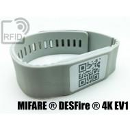 Braccialetti RFID silicone banda NFC MIFARE ® DESFire ® 4K E