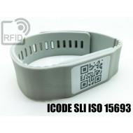 Braccialetti RFID silicone banda ICODE SLI ISO 15693