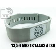 Braccialetti RFID silicone banda 13,56 MHz 1K 14443 A ISO
