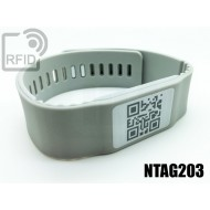 Braccialetti RFID silicone banda NFC NTAG203
