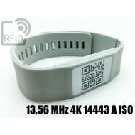 Braccialetti RFID silicone banda 13,56 MHz 4K 14443 A ISO