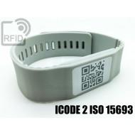Braccialetti RFID silicone banda ICODE 2 ISO 15693