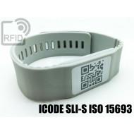 Braccialetti RFID silicone banda ICODE SLI-S ISO 15693