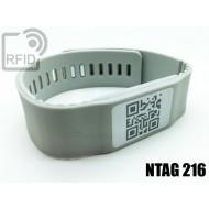 Braccialetti RFID silicone banda NFC NTAG216