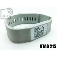 Braccialetti RFID silicone banda NFC NTAG215 1