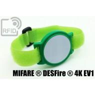 Braccialetti RFID ABS a strappo NFC MIFARE ® DESFire ® 4K EV