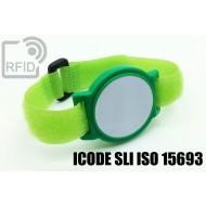 Braccialetti RFID ABS a strappo ICODE SLI ISO 15693